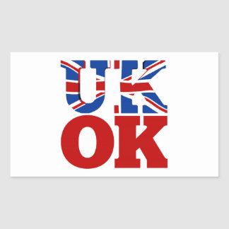 UK OK! Better Together Rectangular Sticker