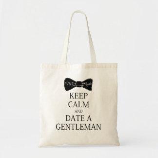 UK Parody Keep calm and date a gentleman Tote Bag