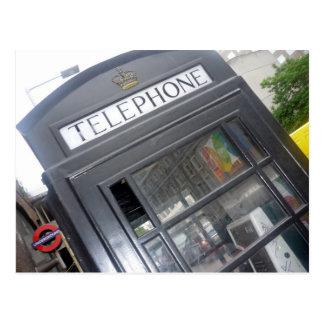 UK phone box Postcard