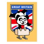 UK Pommel Horse Panda Postcard