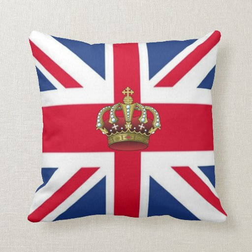 UK Queen Crown American MoJo Pillows