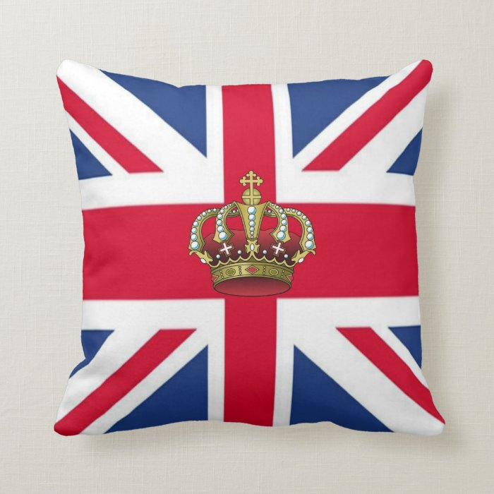UK Queen Crown American MoJo Pillows