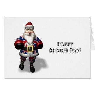 UK Santa Claus On Boxing Day Card