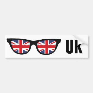 UK Shades custom text & color bumpersticker Bumper Sticker