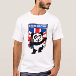 Men's Basic T-Shirt with British Shot Put Panda design