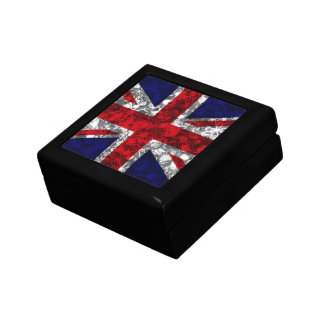 UK Silver baubles and sparkle glamour flag box