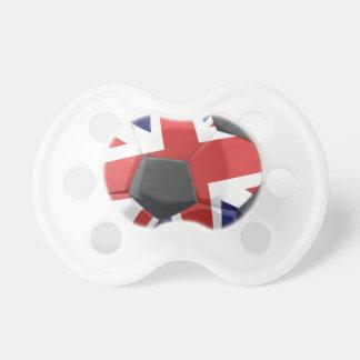 UK Soccer Ball Flag Pacifier