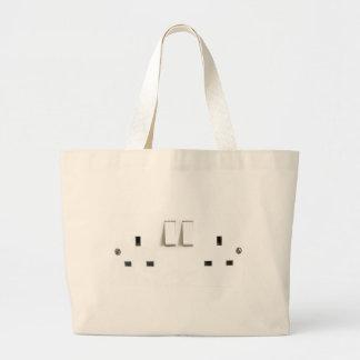 UK Socket design Large Tote Bag