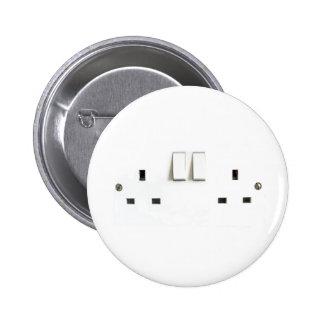 UK Socket design Pinback Button