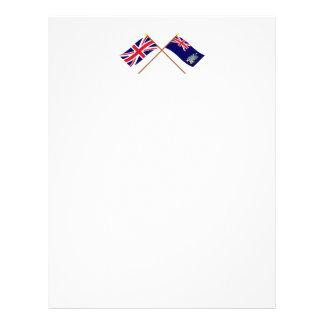 UK & South Georgia Islands Crossed Flags Letterhead