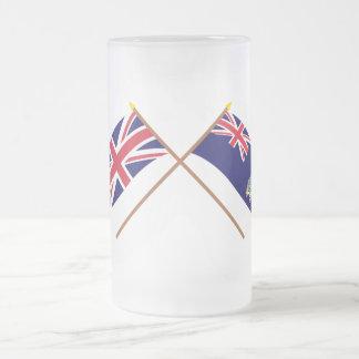 UK South Georgia Islands Crossed Flags Coffee Mug