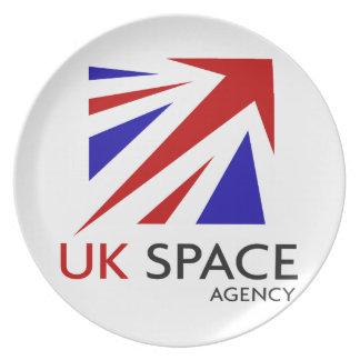 UK Space Agency Dinner Plates