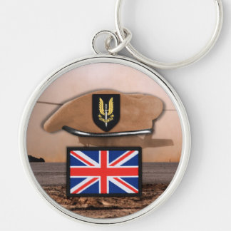uk special air service sas badge beret Keychains