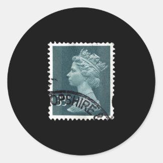 UK Stamp Classic Round Sticker