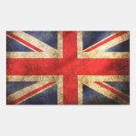 Uk sticker/ adesivo com a Bandeira do Reino Unido Pegatina Rectangular