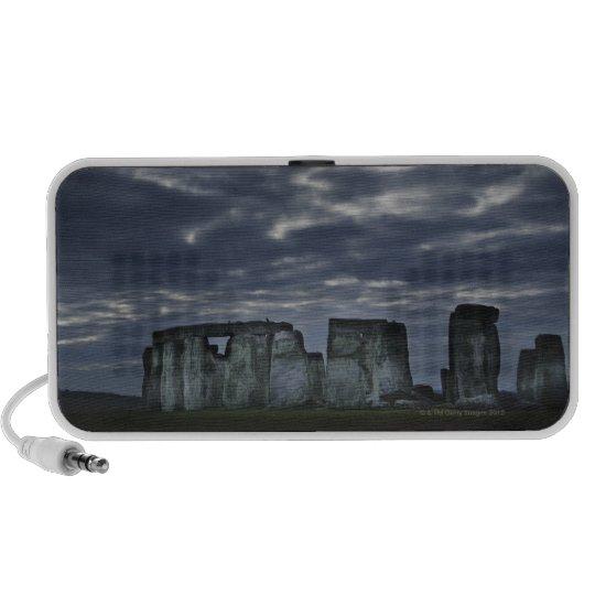 UK, Stonehenge, Scenic view at dawn Speaker