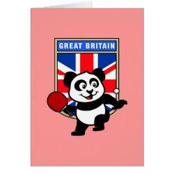 Greeting Card with British Table Tennis Panda design