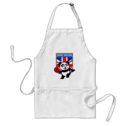 Apron with British Table Tennis Panda design