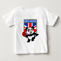 Baby Fine Jersey T-Shirt with British Table Tennis Panda design