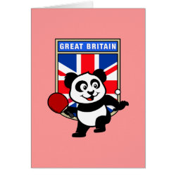 Greeting Card with British Table Tennis Panda design