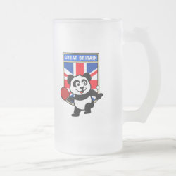 Frosted Glass Mug with British Table Tennis Panda design
