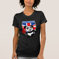 Women's American Apparel Fine Jersey Short Sleeve T-Shirt with British Table Tennis Panda design