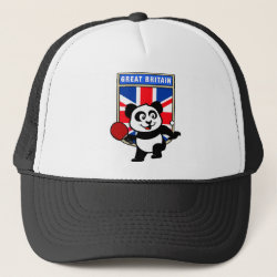 Trucker Hat with British Table Tennis Panda design