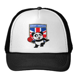 Trucker Hat with British Table Tennis Panda design