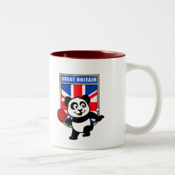 Two-Tone Mug with British Table Tennis Panda design