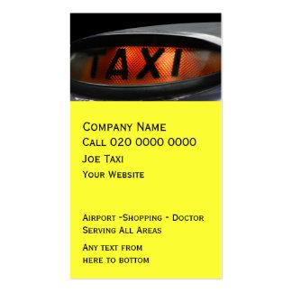 UK Taxi Business Card