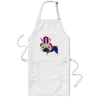 UK Teapot Pug - Customize Long Apron