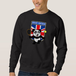 Men's Basic Sweatshirt with Great Britain Tennis Panda design