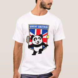 Men's Basic T-Shirt with Great Britain Tennis Panda design