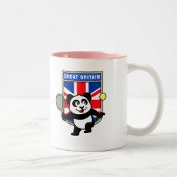 Two-Tone Mug with Great Britain Tennis Panda design