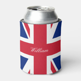 UK Union Jack British Flag Personalized Can Cooler