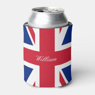 UK Union Jack British Flag Personalized Can Cooler