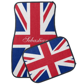 UK Union Jack British Flag Personalized Floor Mat
