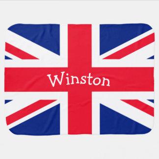 UK Union Jack British Patriotic Flag Receiving Blanket