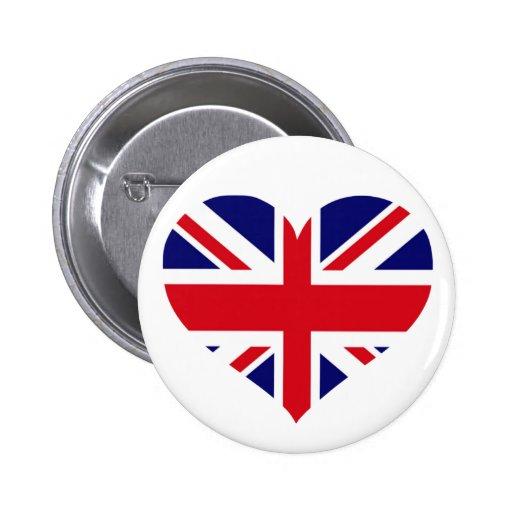 UK Union Jack Pinback Buttons