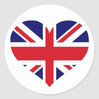 UK Union Jack Classic Round Sticker