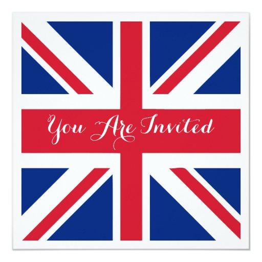 Uk Union Jack Flag British Wedding Invitation Zazzle