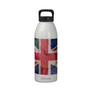 UK Union Jack Flag Customizable With Photo Drinking Bottles