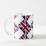 UK Union Jack Flag Diagonal Coffee Mug