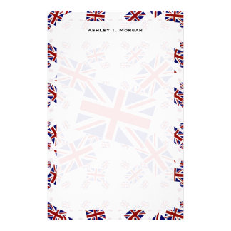 UK Union Jack Flag in Layers Askew Stationery