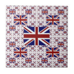 UK Union Jack Flag in Layers Small Square Tile