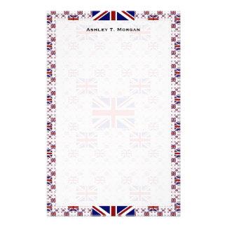 UK Union Jack Flag in Layers Stationery