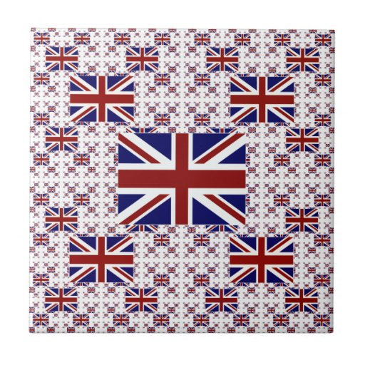 UK Union Jack Flag in Layers Tiles