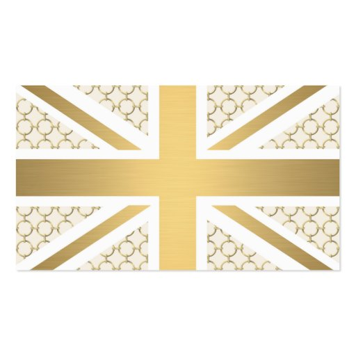 Uk union jack flag with gold equestrian pattern double for Union made business cards