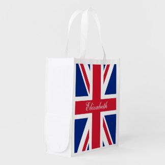 UK Union Jack Personalized Flag Market Totes