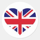 UK Union Jack Round Sticker